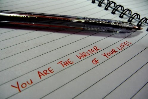 You are the writer of your life