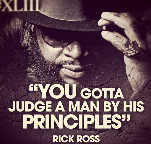 You gotta judge a man by his principles