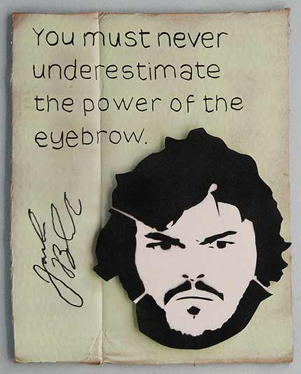 You must never underestimate the power of the eyebrow.
