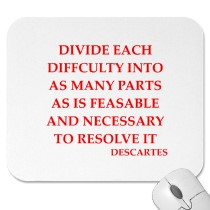Divide each difficulty into as many parts as is feasable and necessary to resolve it