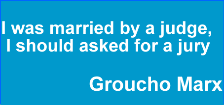 I was married by a judge,I should asked for a jury