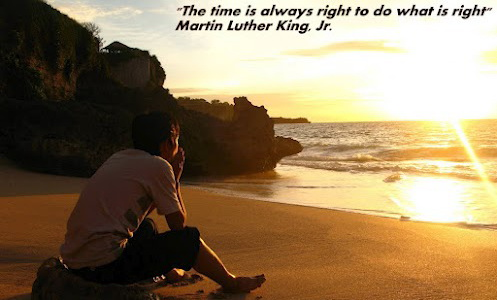 There is always time to do what is right
