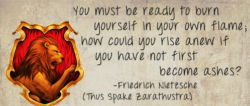 You must be ready to burn yourself in your own flame; how could you rise anew if you have not first become ashes?
